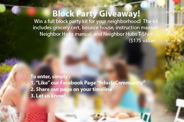 block party giveaway copy